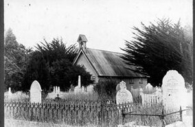 The churchyard from Moonshine Road ca 1906